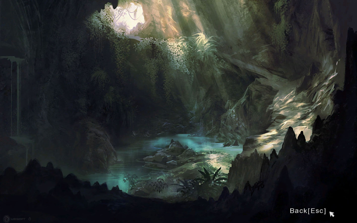 airbrushed artwork cavern concept - photo #13